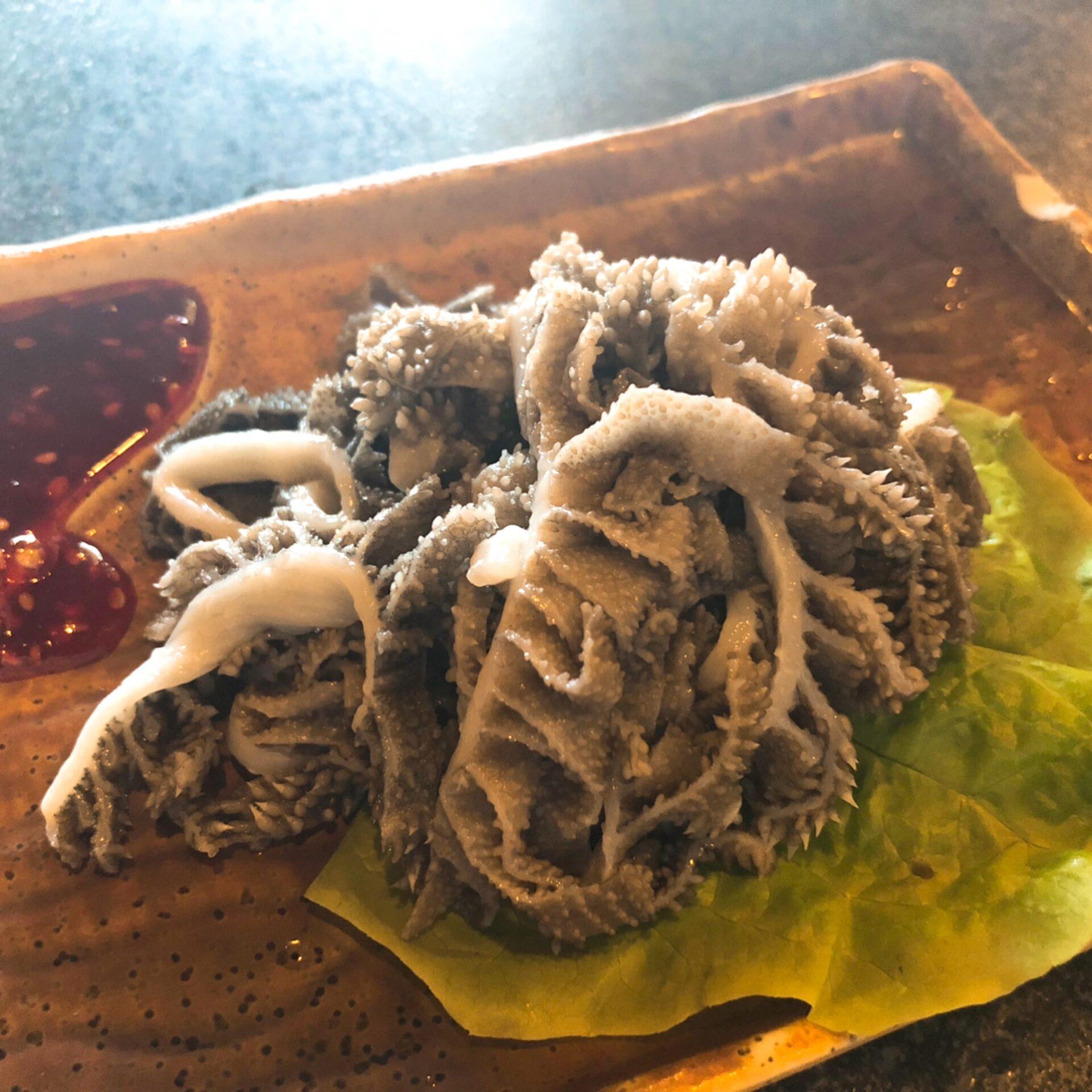 センマイ刺身の写真